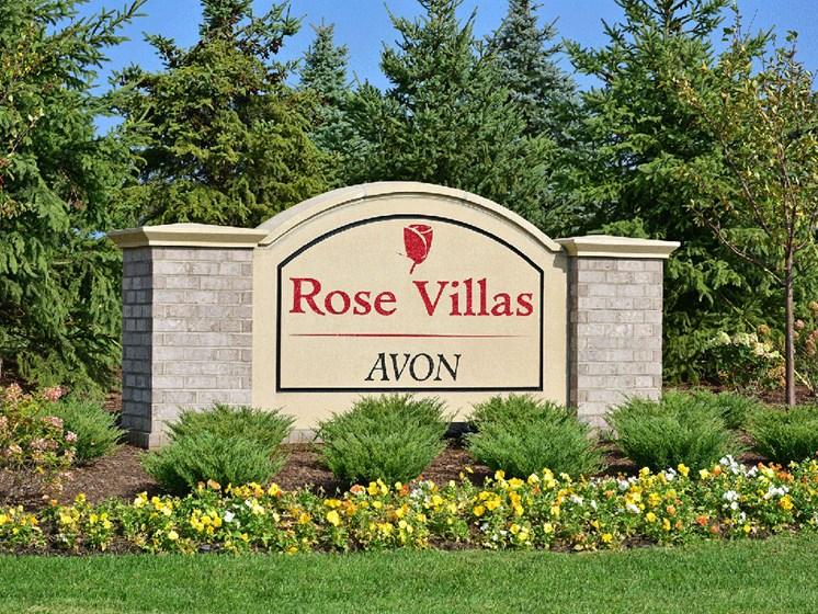 Welcome Sign at Rose Villas - Avon, Avon, Ohio