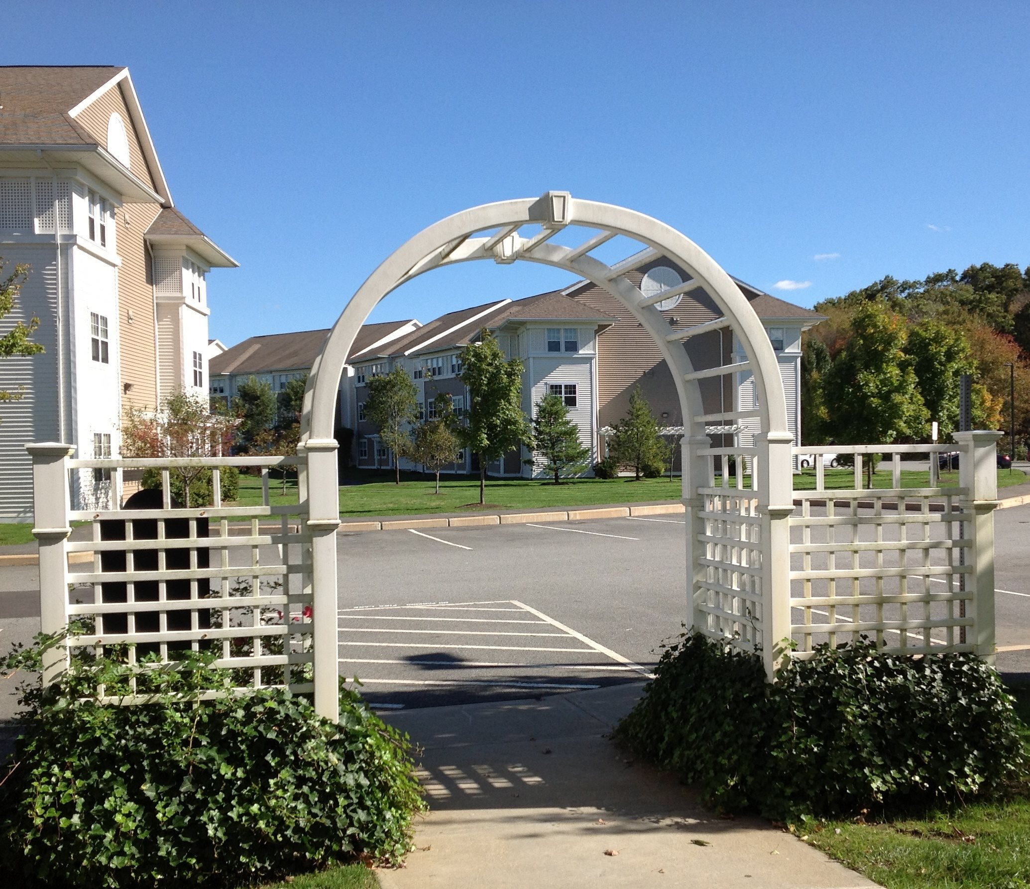 Arch at Property Entrance at Chestnut Farm Apartments in Raynham, MA 02767