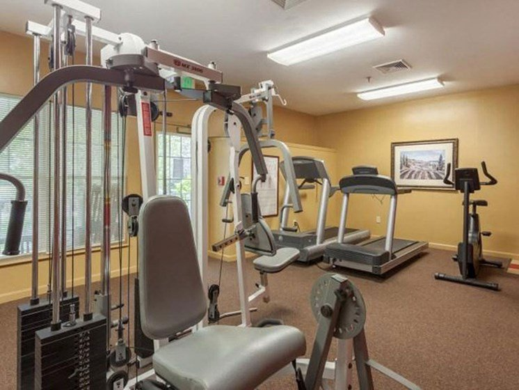 Fitness Center Equipment at Franklin Commons Apartments in Franklin, MA