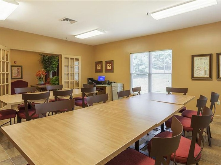 Meeting Room in Community Space at Franklin Commons Apartments in Franklin, MA