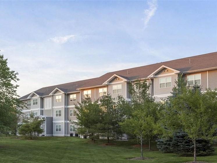 Backyard of Property at Quail Run Apartments in Stoughton, MA
