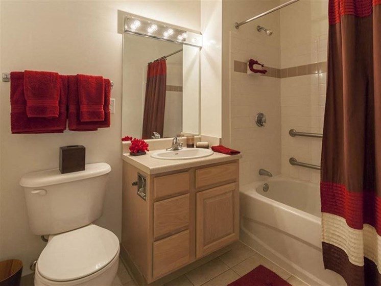 Bathroom Interior at Quail Run Apartments in Stoughton, MA