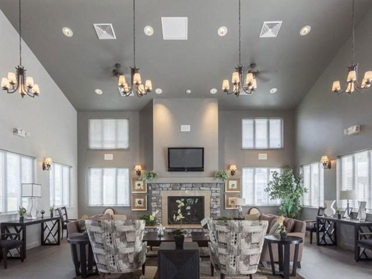 Spacious Community Clubhouse at Quail Run Apartments in Stoughton, MA
