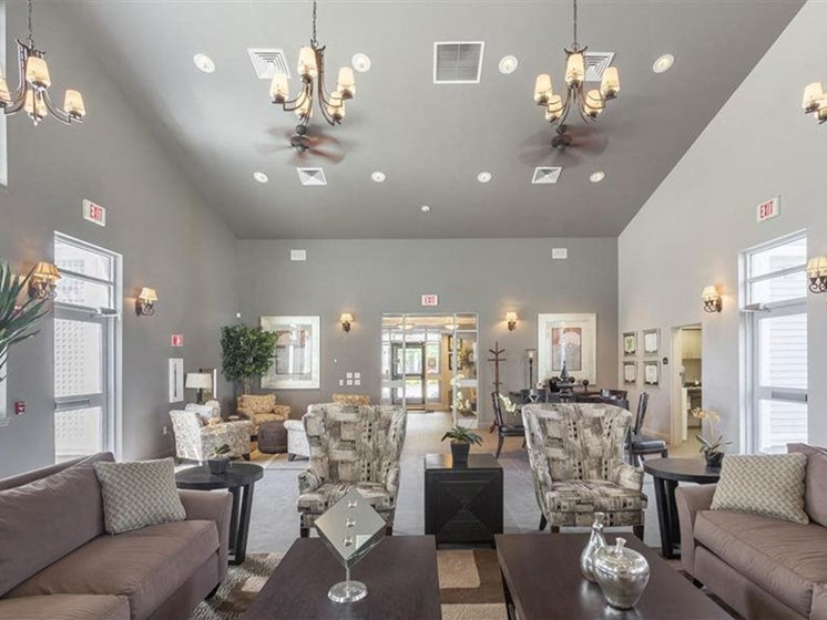 Plenty of Natural Light in Community Spaces at Quail Run Apartments in Stoughton, MA