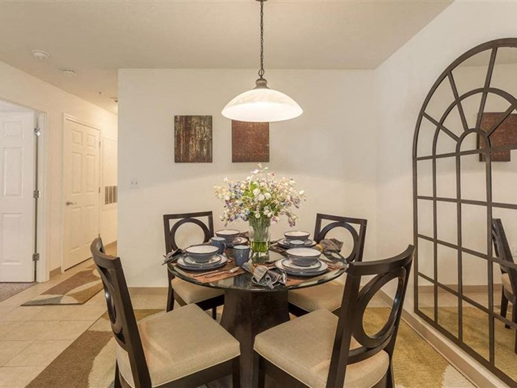 Dining Area at Quail Run Apartments in Stoughton, MA