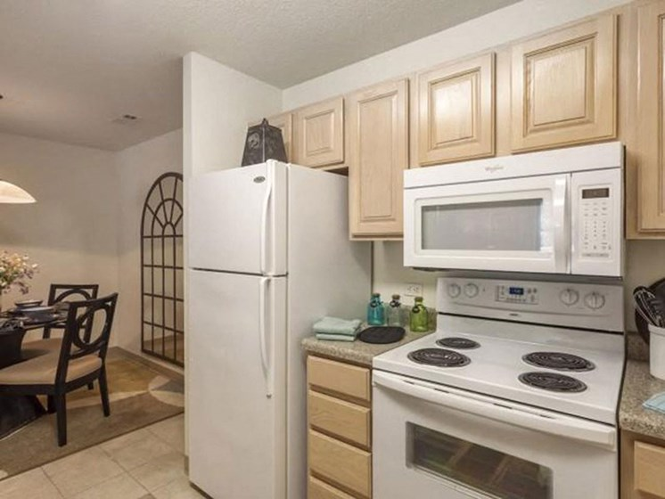 Fully-Equipped Kitchen at Quail Run Apartments in Stoughton, MA