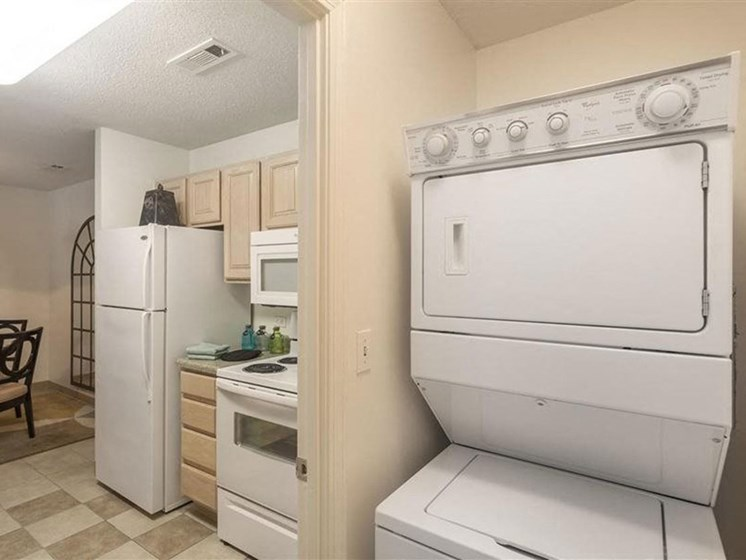 In-Unit Washer and Dryer at Quail Run Apartments in Stoughton, MA