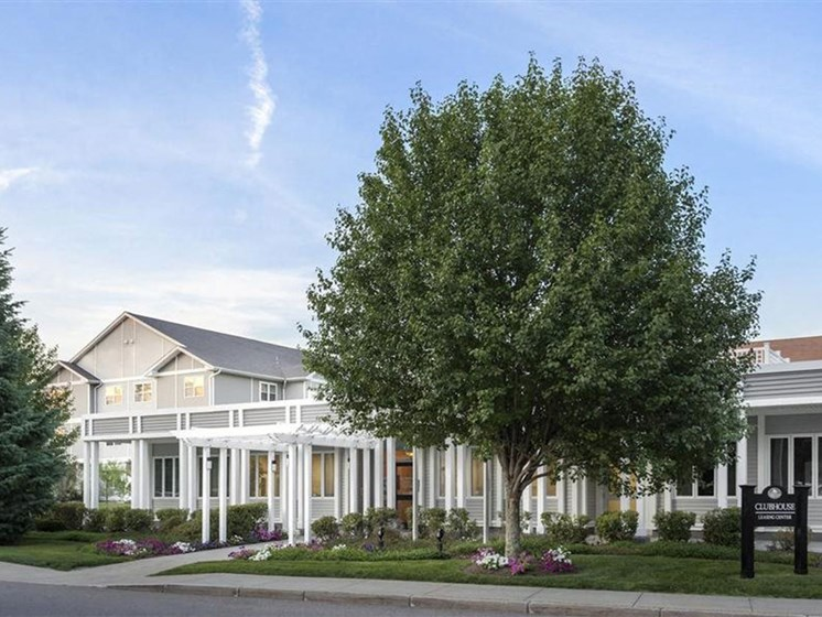 Large Trees and Lawns at Quail Run Apartments in Stoughton, MA