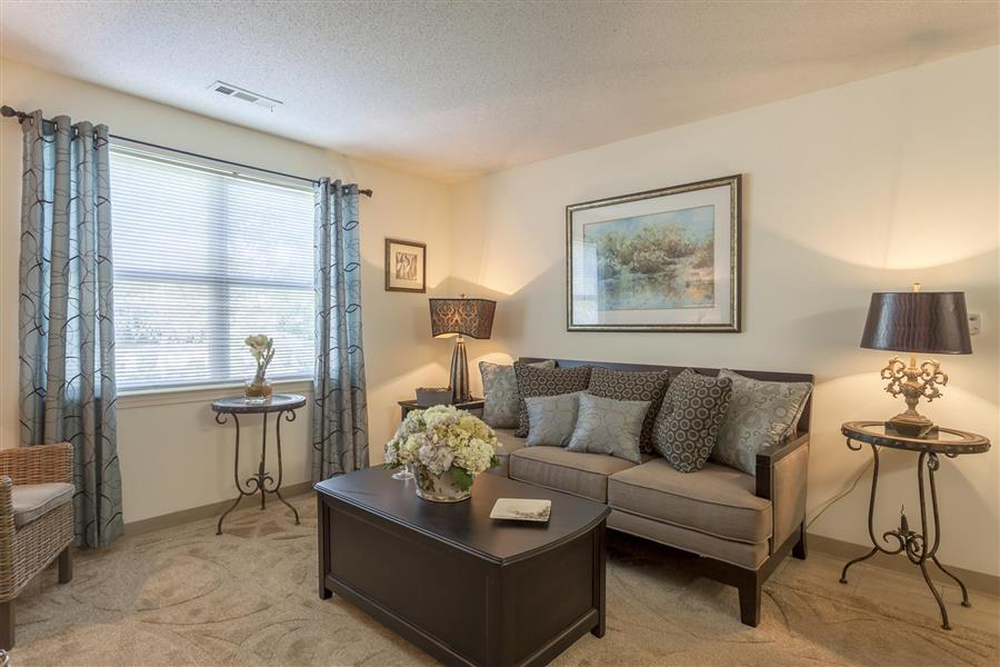 Contemporary Living Room Design at Quail Run Apartments, 12 Buckley Rd, Stoughton, MA 02072