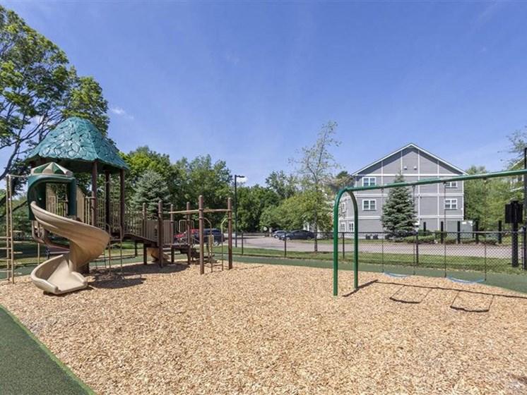 On-Site Playground at Quail Run Apartments in Stoughton, MA
