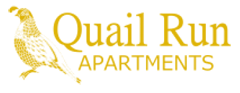 Yellow and White Logo Design for Quail Run Apartments, 12 Buckley Rd, Stoughton, MA 02072