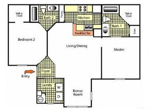 Three Bedroom Two Bath I