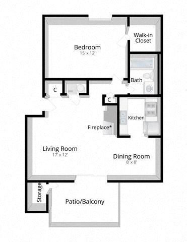 One Bedroom Apartment Mishawaka