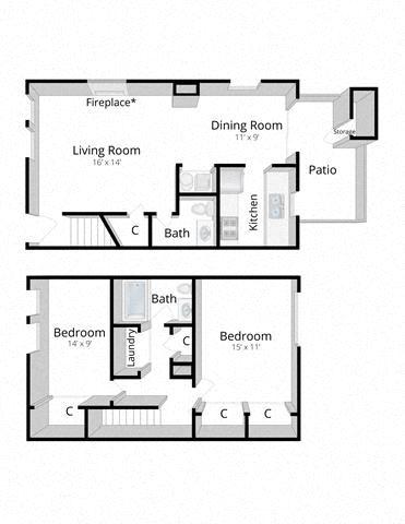 Two Bedroom Townhome Mishawaka