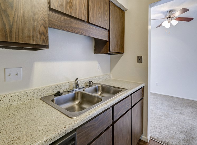 Apartment Kitchen at The Woods of Eagle Creek