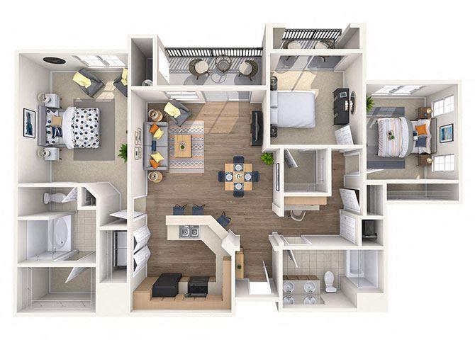 Sonorah Floor Plan at Waterford at Peoria, Arizona, 85381