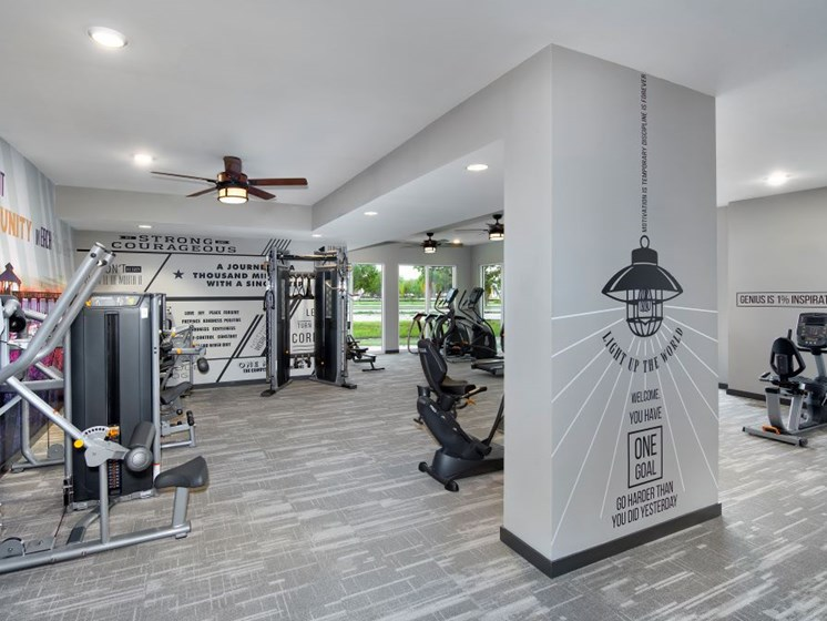 State-of-the-Art 24 Hr. Fitness and Yoga/Cross Training Center with Fitness on Demand Kiosk and Weekly Onsite Classes at The Edison Apartments, Fort Myers, FL 33905
