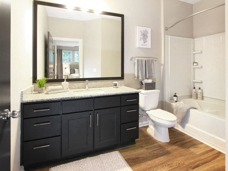 Bathroom at The Newton Apartments, North Carolina