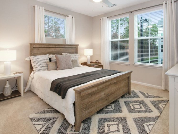 Bedroom at The Newton Apartments, Charlotte, NC, 28278