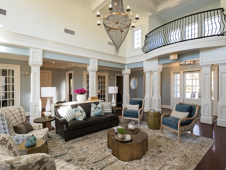 Stunning Modern Design Community Clubhouse with Ample Space and Amenities at The Berkeley Apartment Homes, Duluth, GA 30096