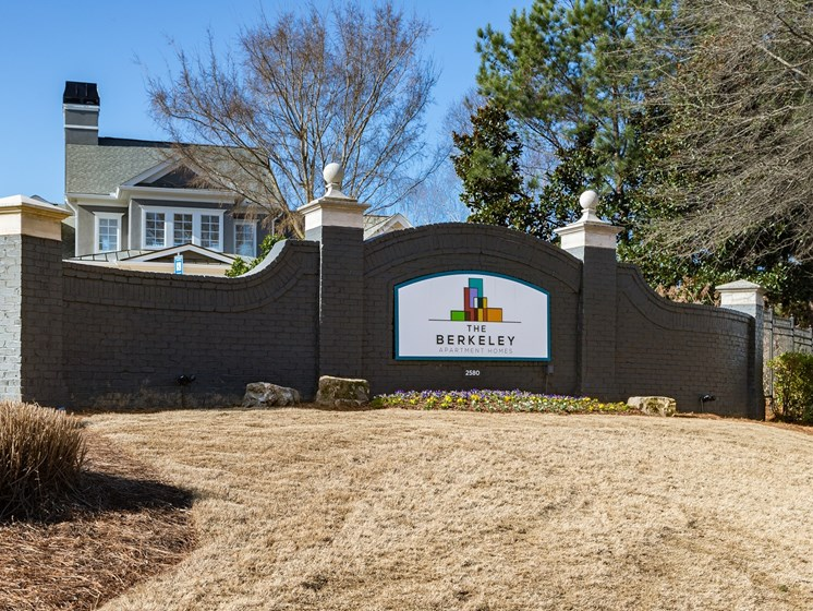 Fresh Home Exterior with Trees Inviting You Inside at The Berkeley Apartment Homes, Duluth, GA 30096