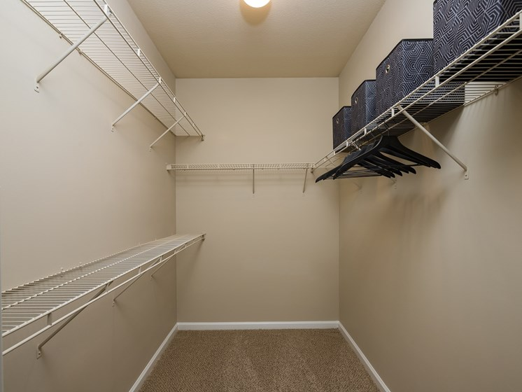 Do you need a closet large enough to walk inside to store your belongings and clothes? You'lll love the Walk-in-closets at The Berkeley Apartment Homes, Duluth, GA 30096