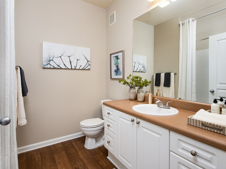 Spacious Bathroom with Relaxing Garden Tub at The Berkeley Apartment Homes, Duluth, GA 30096