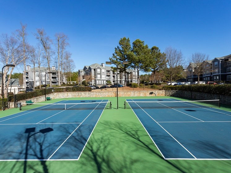 If you love nothing more than a good game of tennis, we have a Lighted Tennis Court at The Berkeley Apartment Homes, Duluth, GA 30096