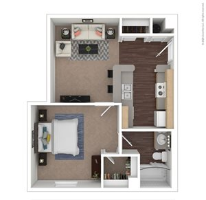 1 Bed | 1 Bath | 525 sq.ft.