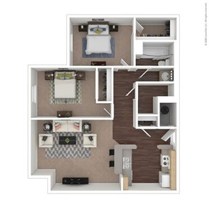2 Bed | 1 Bath | 749 sq.ft.