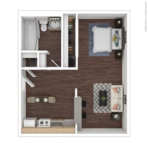 Studio | 1 Bath | 402 sq.ft.
