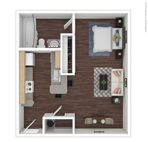 Studio | 1 Bath| 401 sq.ft.