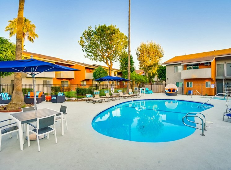Swimming Pool With Relaxing Sundecks at Pacific Trails Luxury Apartment Homes, Covina, 91722