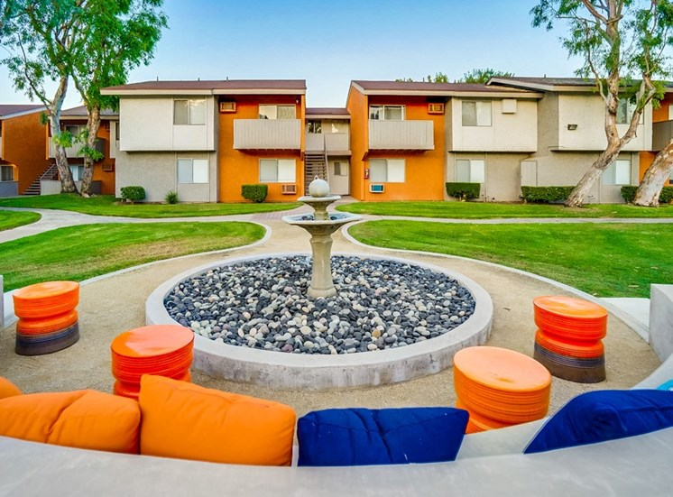 Courtyard Water Feature at Pacific Trails Luxury Apartment Homes, Covina, CA, 91722