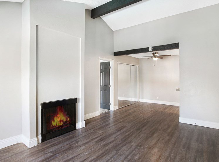 Electric Fireplace In Room at Pacific Trails Luxury Apartment Homes, Covina, 91722