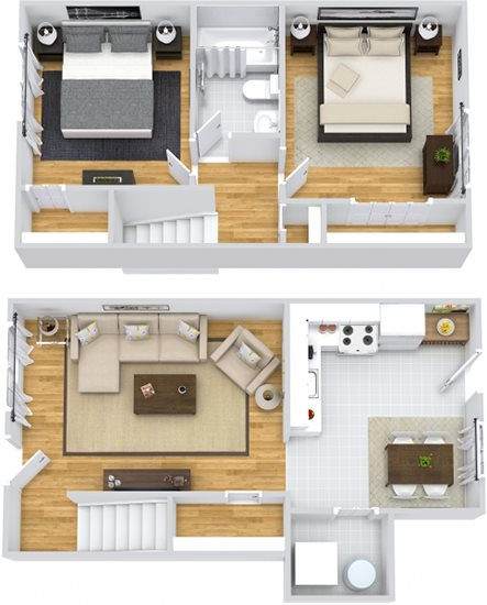 Hickory Townhouse Floor Plan 6