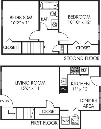 Cypress Townhouse Floor Plan 2