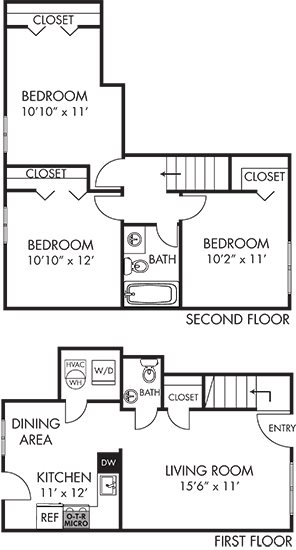 Cedar Townhouse Floor Plan 3