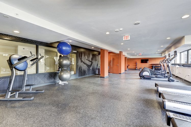 Spacious Fitness Center at The Mark Apartments, Alexandria, Virginia