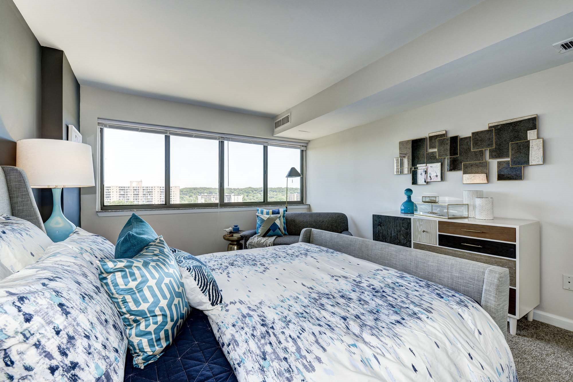 King-Sized Bedrooms at The Mark Apartments, Alexandria