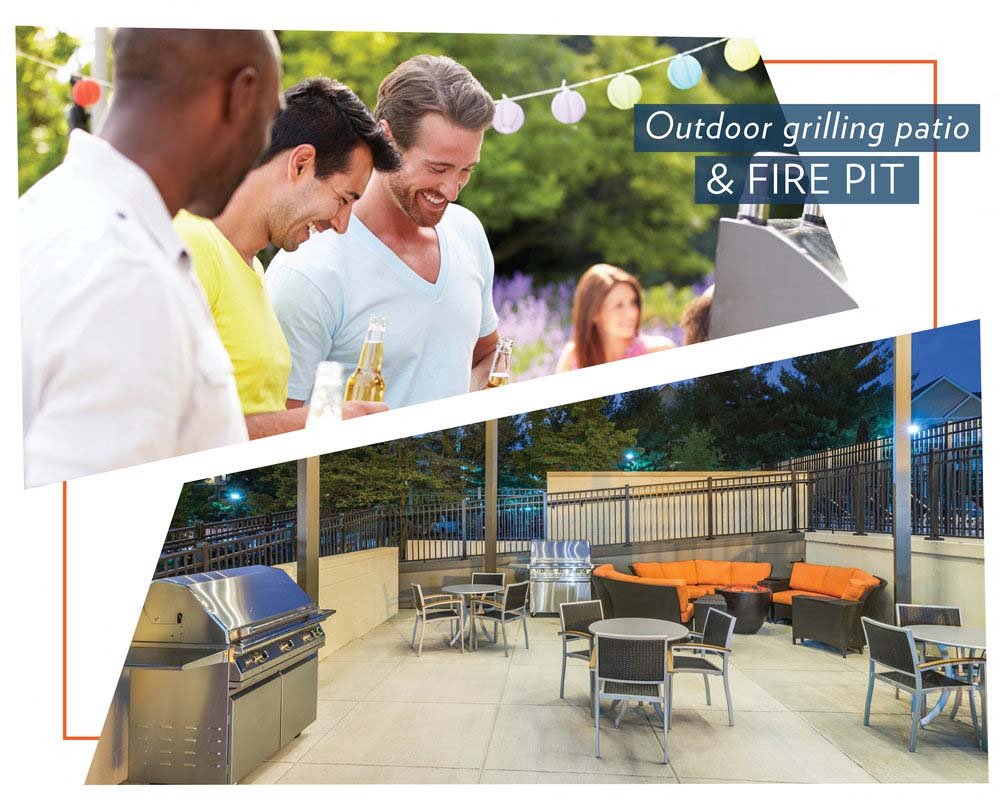 Poolside Lounge Area and Grilling Area at The Mark Apartments, Virginia, 22304
