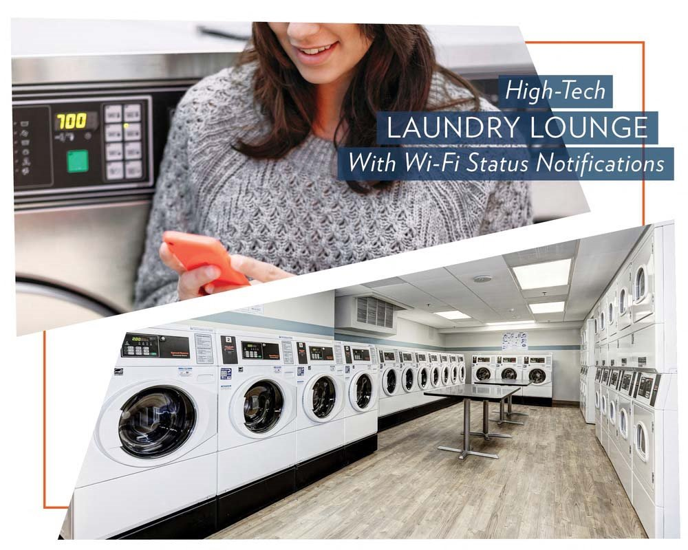 High-Tech Laundry Room at The Mark Apartments, Alexandria, Virginia