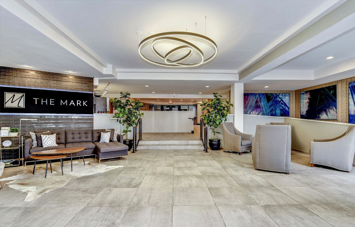 Spacious Lobby Upon Entry At The Mark Apartments, Alexandria