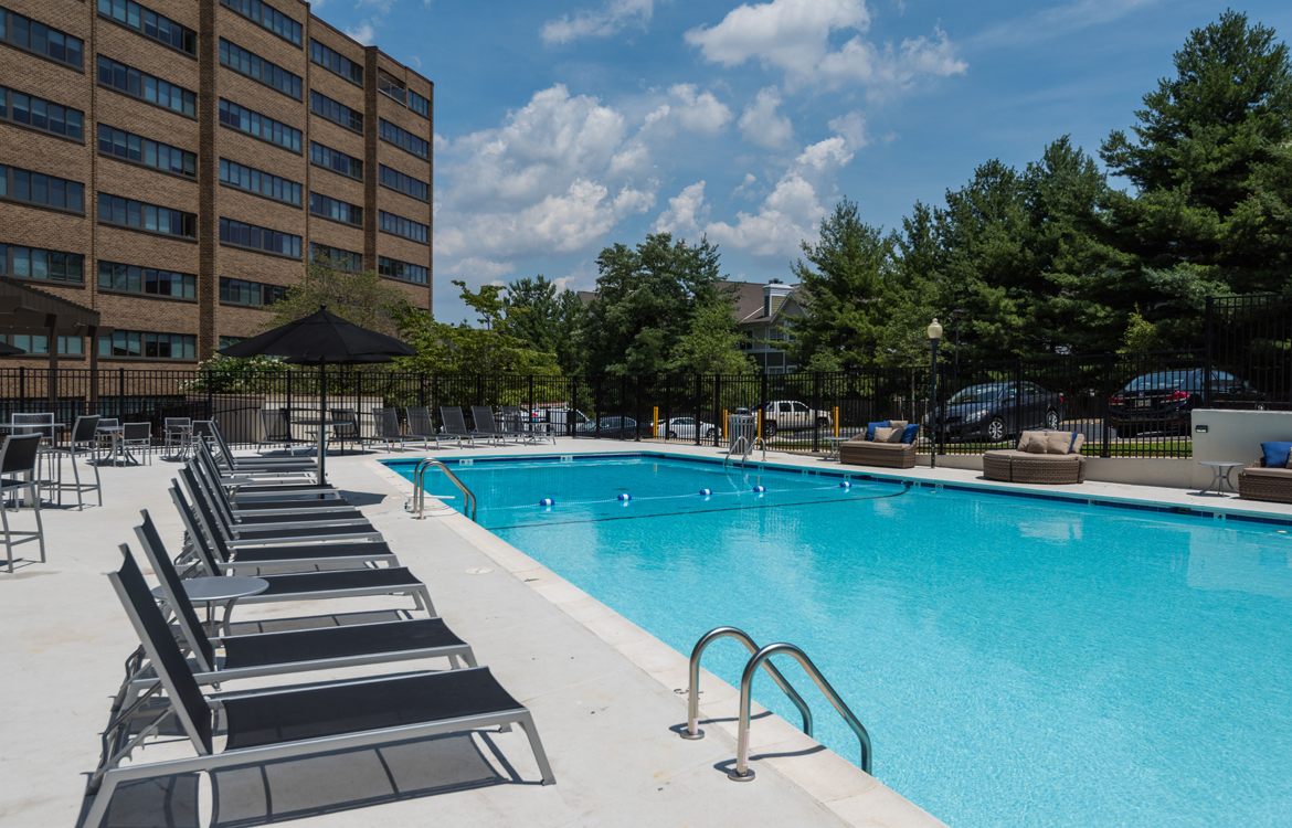 Swimming Pool at The Mark Apartments, Alexandria, VA
