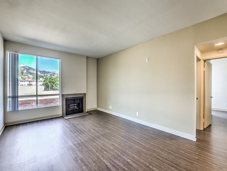 Vacant apartment living room