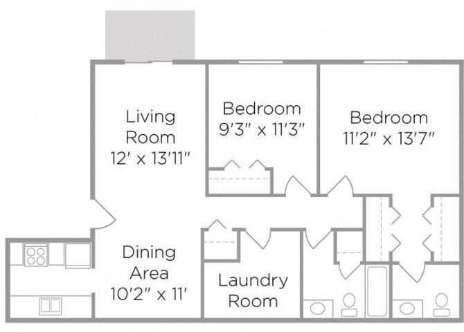 2 bedroom apartment floor plan