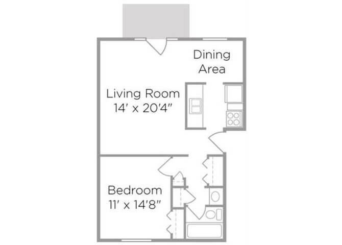 apartments with one bedroom for rent