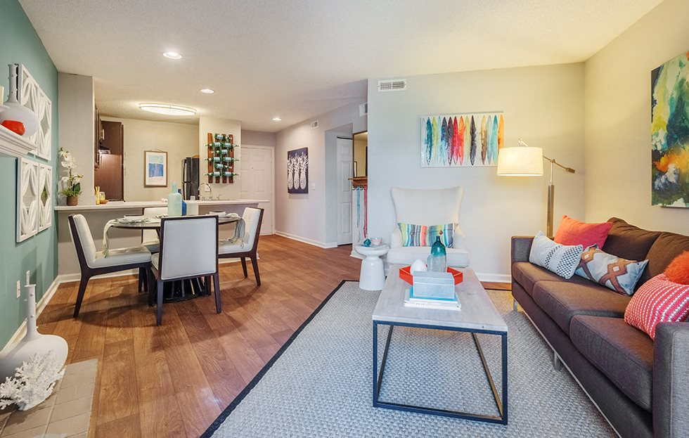Modern Living Room at Waverly Place, North Charleston, SC, 29418