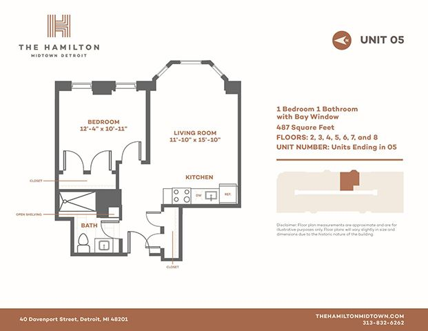 1 Bedroom Bay - Floorplan 5