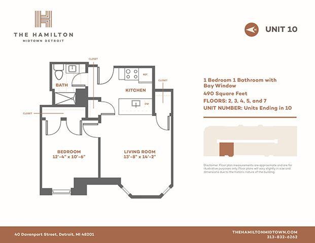 1 Bedroom Bay - Floorplan 10